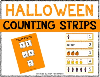 Halloween Counting Strips