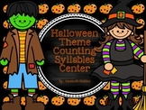 Halloween Counting Syllables Center