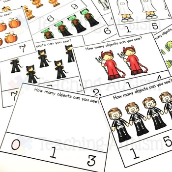 Halloween Activities - Counting Task Cards