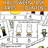 Halloween Activities Counting Task Cards