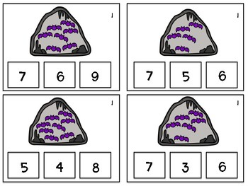 Halloween Counting Task Cards