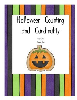 Halloween Counting and Cardinality- Kindergarten