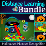 Halloween Counting and Number Recognition Distance Learning Bundle