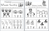 Halloween Counting and Number Recognition Worksheet