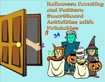 Halloween Counting and Pattern SmartBoard Activities with Printables
