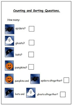 Halloween Counting and Sorting