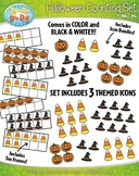 Halloween Counting and Ten Frames Math Clipart {Zip-A-Dee-Doo-Dah Designs}