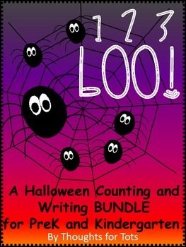 Halloween Counting, Writing and Craft BUNDLE for Prek and