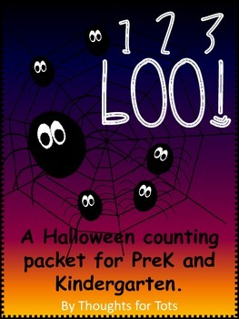 Counting Practice, Spiders, Pumpkins, Cats, for Prek and K