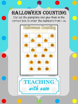 Halloween Counting to 20 - Difficult