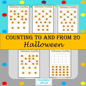 Halloween Counting to and from 20 Bundle!!
