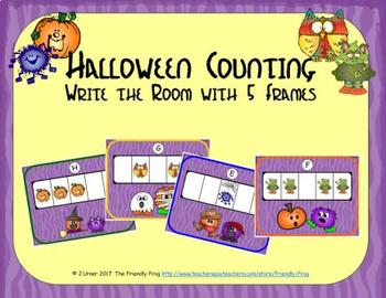 Halloween Counting with 5 Frames {Subitizing}