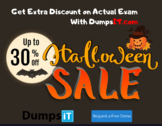 Halloween Coupon~ Get 20% Discount on PMP  exam dumps