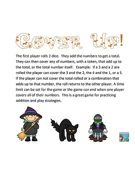 Halloween Cover-Up Math Game