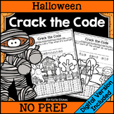 Halloween Crack the Code | Printable & Digital