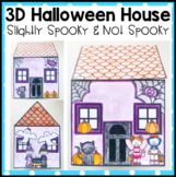 Halloween Craft - 3D Slightly Spooky House and Not Spooky House