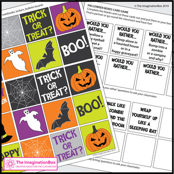 Halloween Craft Activity - Box Art and Games