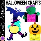 Halloween Crafts (witch, pumpkin glyph, monster and bat) bundle