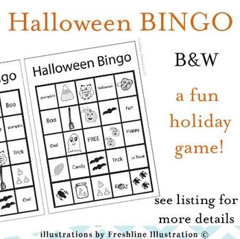Halloween Craft, Bingo, Printable, Bats, Pumpkins, Spiders, Printable