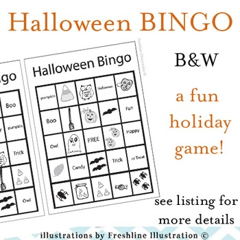 Halloween Craft, Bingo, Printable, Bats, Pumpkins, Spiders, Printable