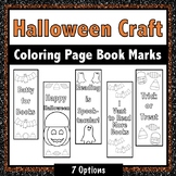 Halloween Bookmarks {colorable}