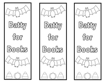 halloween bookmarks colorable - Halloween Book Marks
