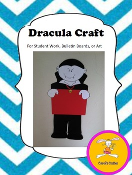 Halloween Craft -Dracula Craft for Student Work, Bulletin Boards, or Art