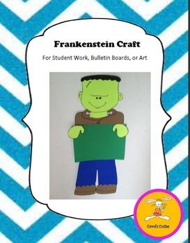 Halloween Craft -Frankenstein Craft for Writing, Bulletin Boards,or Art