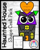 Haunted House Shape Craft Math Activity for Halloween, Fall, Trick-or-Treat