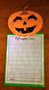 Halloween Craft - Jack-O-Lantern Craft and Writing Activity