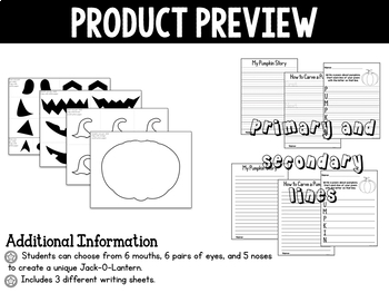 Halloween Activity - Jack-O-Lantern Craft and Writing Activity
