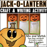 Halloween Writing Pumpkin Craft - Jack-O-Lantern Craft and