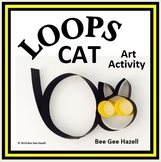 LOOPS CAT  Halloween Fraction Craft  (art activity with a little bit of math)