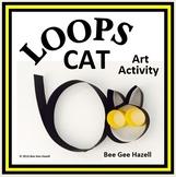 LOOPS CAT  Halloween Fraction Craft  (art activity with a little bit of math)