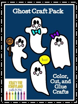 Halloween Crafts Value Pack: Scarecrow,Witch,Owl,Haunted House,Ghost,Spider Hat