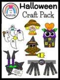 Halloween Craft Bundle: Scarecrow, Witch, Owl, Haunted House, Ghost, Spider Hat