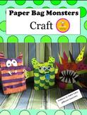 Halloween Craft - Paper Bag Monsters Craft