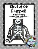 Freebie Friday 32: Halloween Craft: Skeleton Paper Bag Puppet