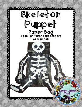 Freebie Friday 32: Halloween Craft: Skeleton Paper Bag Puppet