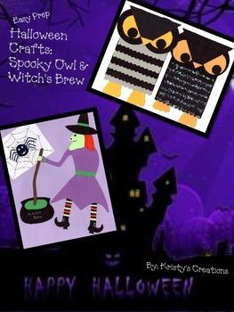 Halloween Craft: Spooky Owl & Witch's Brew