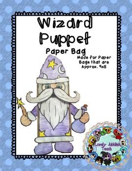 Halloween Craft: Wizard Paper Bag Puppet
