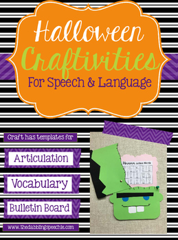 Halloween Crafts For Speech & Language