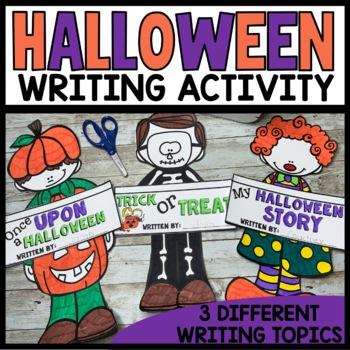 Halloween Writing Activities - Craftivity