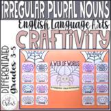 Halloween Craftivity A Web of Words Irregular Plural Nouns