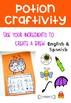 Halloween Craftivity & Counting activity English and Spanish