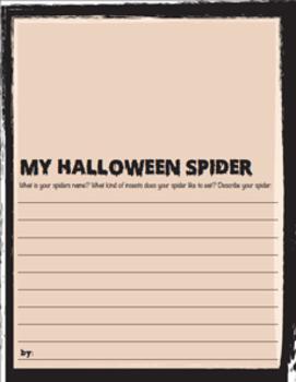 Spider Craftivity: Fall Art; Halloween Art Lesson