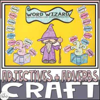 Halloween Craftivity Word Wizard Adjectives & Adverbs