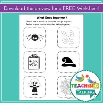 Halloween Craftivity & Worksheets