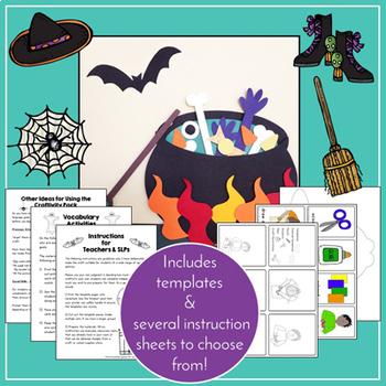 Halloween Speech and Langauge Activities