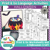 Halloween Speech and Langauge Activities